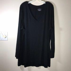 Lane Bryant Black V neck sweater size Womans 22/24